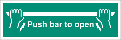 Fire exit - Push bar to open sign