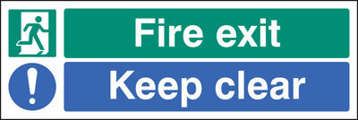 Fire exit - keep clear sign