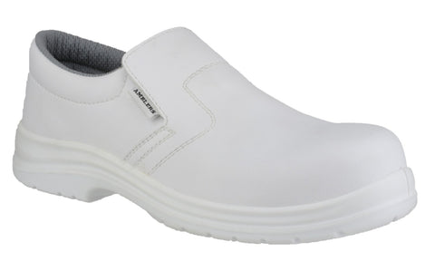Amblers FS510 White Slip-On Hygiene Safety Shoes