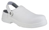 Amblers FS512 White Hygiene Safety Shoes Clogs