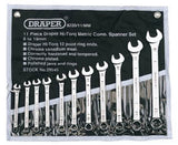 Draper 11 Piece Metric Combination Spanner Set