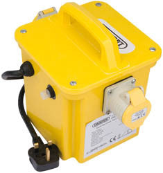 Draper 1.5kVA 230V to 110V Portable Site Transformer