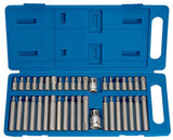 Draper 40 Piece TX-Star Hexagon And XZN Mechanics Bit Set