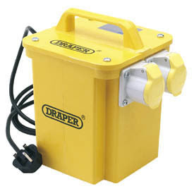 Draper Expert 3.3kVA 230V To 110V 16A Twin Outlet Portable Transformer