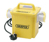 Draper Expert 1.5kVA 230V To 110V 16A Twin Outlet Portable Transformer
