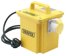 Draper Expert 1kVA 230V To 110V 16A Single Outlet Portable Transformer