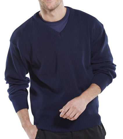Click Acrylic V-Neck Sweater