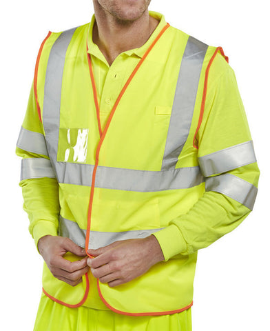 B-Safe Yellow Multi-Purpose Hi Vis Vest