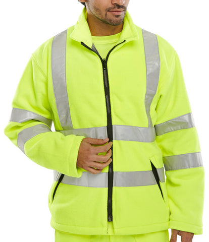 B-Seen Carnoustie Hi Vis Fleece Jacket  - 1