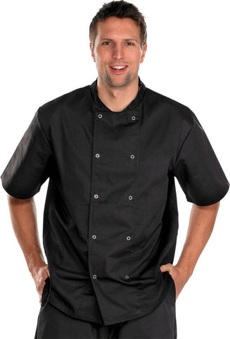 Double Breasted Chef's Jacket Short Sleeves  - 1
