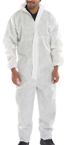 Click Microporous Type 5 6 White Disposable Coverall