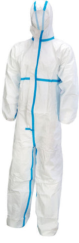 Click Microporous Type 4 5 6 White Disposable Coverall