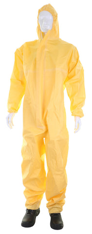 Click SMS Yellow Microporous Type 3 4 5 6 Yellow Disposable Coverall