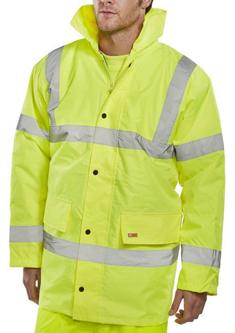 B-Seen Constructor Hi Vis Traffic Jacket  - 1