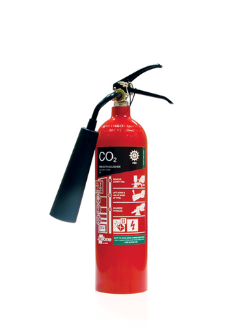 2kg CO2 Premium MED Fire Extinguisher With Frost Free Horn