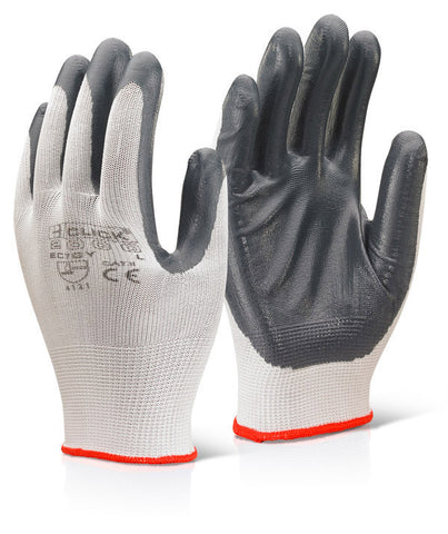 Click 2000 Nitrile Palm Coated Polyester Gloves Grey
