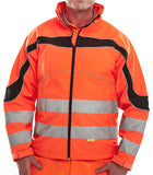 B-Seen Eton Hi Vis Soft Shell Jacket  - 1