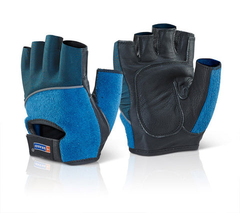 B-Brand Fingerless Gel Gym Gloves