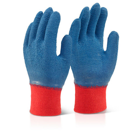 Click 2000 Latex Fully Coated Gripped Gloves Blue