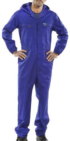 Super Click Hooded Boilersuit Royal Blue
