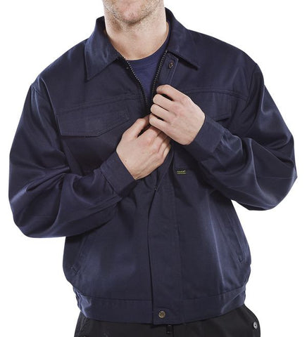 Click Heavyweight Navy Drivers Jacket