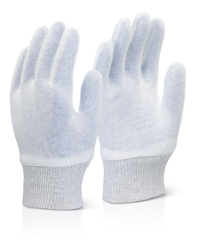 Click 2000 White Stockinette Knitwrist Gloves
