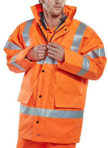 B-Seen 4 Seasons Hi Vis Traffic Jacket With Bodywarmer  - 1