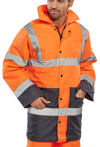 B-Seen Two-Tone Hi Vis Jacket  - 1