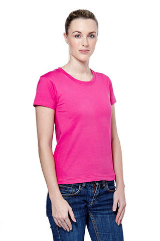 Cheap Ladies Crew Neck T-Shirt