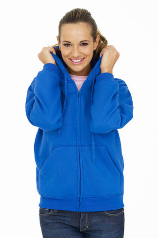 Cheap Ladies Full Zip Hooded Sweatshirt