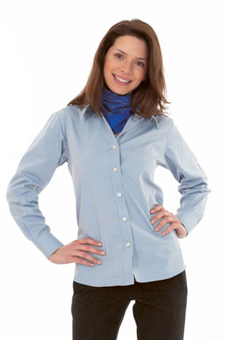 Cheap Ladies Pinpoint Oxford Long Sleeve Shirt
