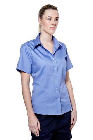 Cheap Ladies Pinpoint Oxford Short Sleeve Shirt