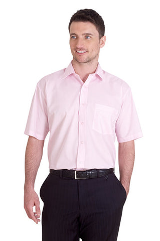 Cheap Mens Poplin Short Sleeve Shirt