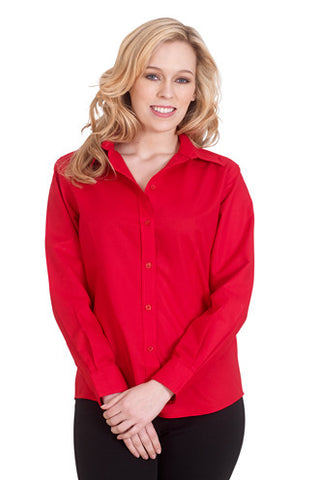 Cheap Ladies Poplin Long Sleeve Shirt
