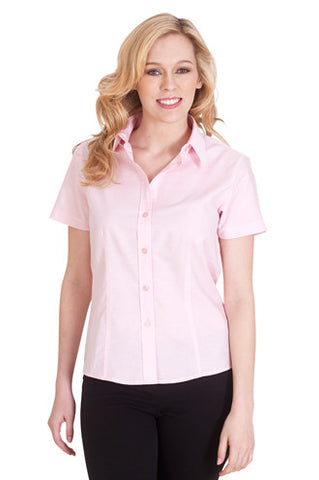 Cheap Ladies Poplin Short Sleeve Shirt