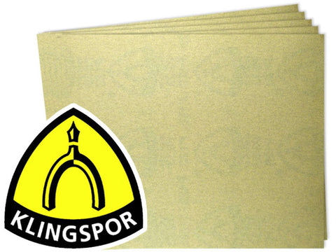 Box (50) Klingspor PS33 Aluminium Oxide with Stearate Sandpaper Emery Sheets