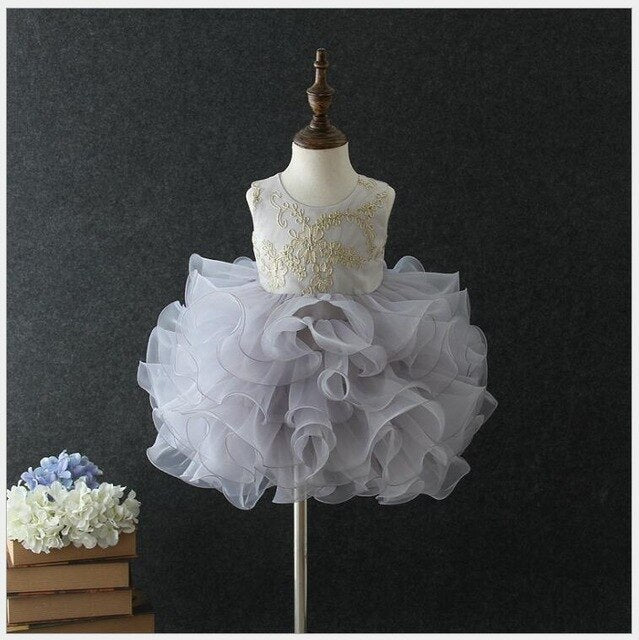 Baby girl baptism dress - Cotton Castles Luxury  Diaper Cakes