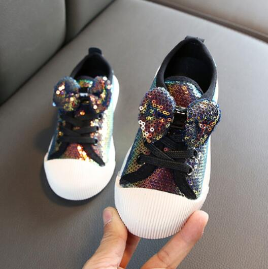 Bow Sequin Girls Shoes - Cotton Castles Luxury  Diaper Cakes