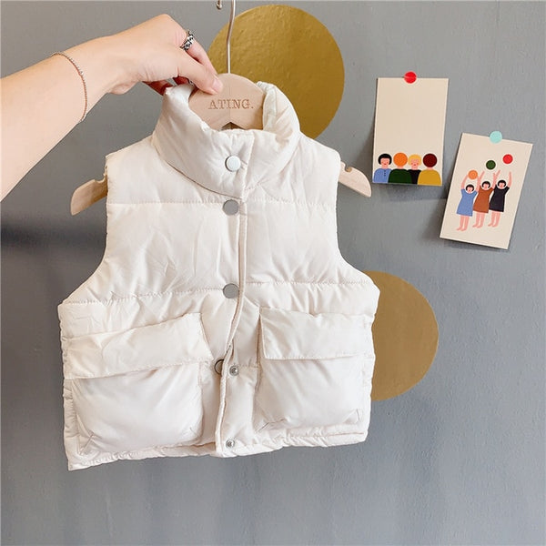 Winter Girls Cotton Vest - Cotton Castles Luxury  Diaper Cakes