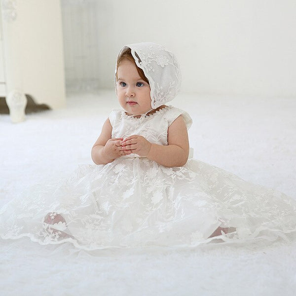 Little Prayers Baptism Dress - Cotton Castles Luxury  Diaper Cakes
