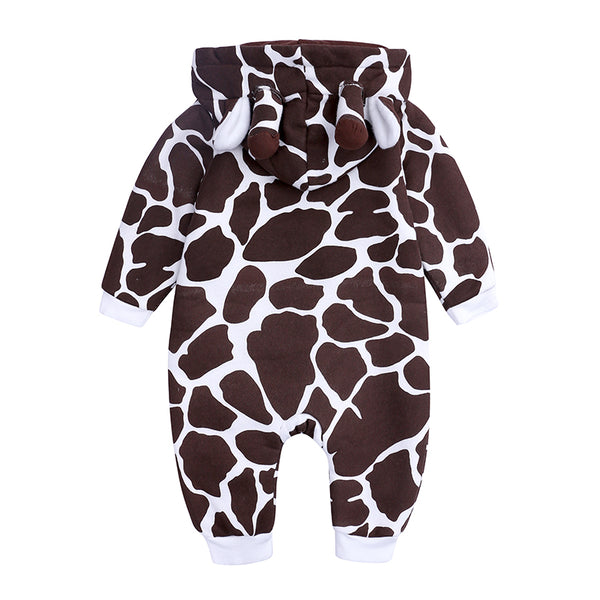 Giraffe Cotton Baby Rompers - Cotton Castles Luxury  Diaper Cakes