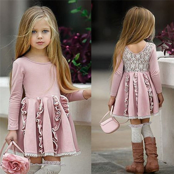 Back Lace Patchwork Cotton Dress