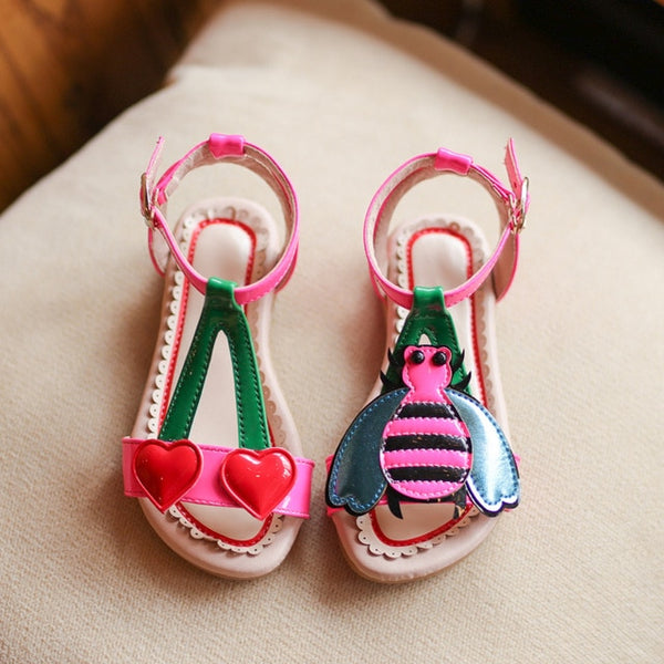 Cute Cartoon Love Cherry Bees  Sandals - Cotton Castles Luxury  Diaper Cakes
