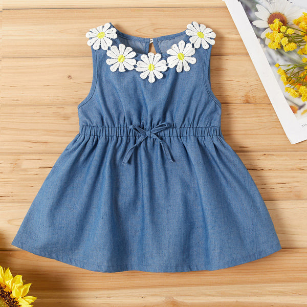 Sunflower Denim Sleeveless Dress