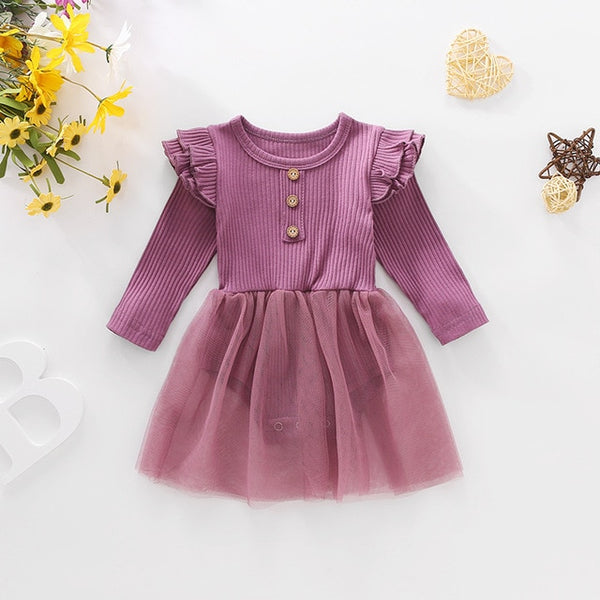 Newborn Knitted Jumpsuits Lace Dress