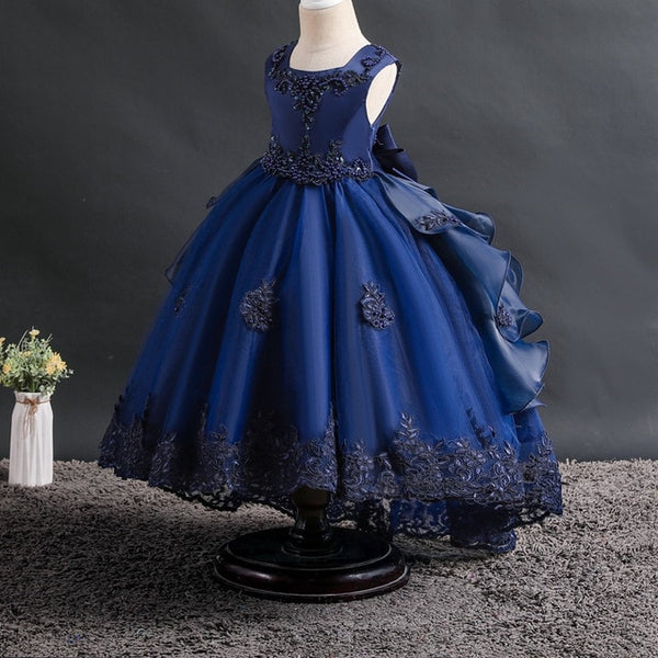 Flower Girl Square Collar Ball Gowns