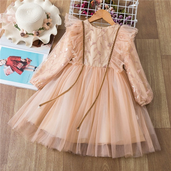 Formal Princess Long Sleeve Gown
