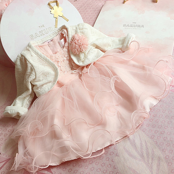 Newborn Pink Flower Princess Dresses