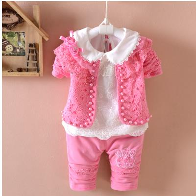 Baby girl fashion three-piece set