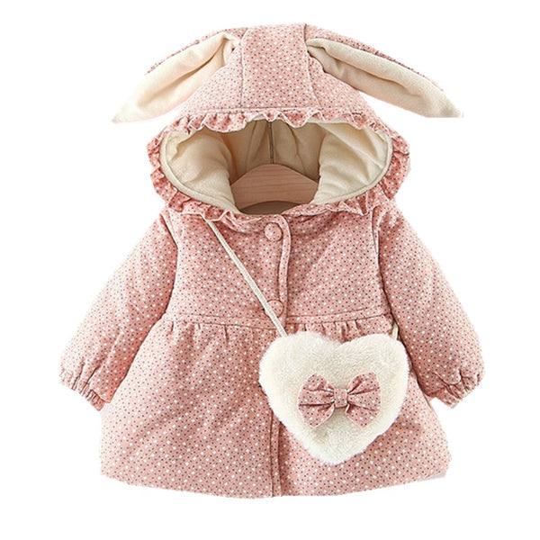 Baby Girl Polka Dot Hooded Coat